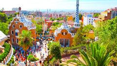 Park Guell i Barcelona.