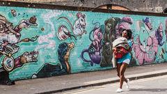 Hipster-stadsdelen Shoreditch, London.