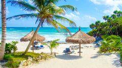 Dröm dig bort till Mexikos vita stränder.