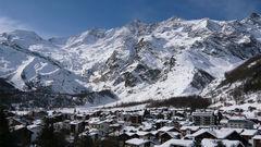 Saas-Fee i Schweiz.