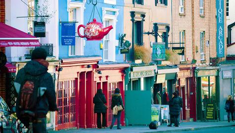 Strosa runt i mysiga Notting Hill.